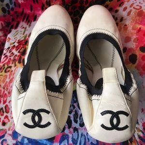 Chanel Ballet Contrast Heels